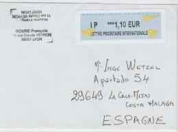 FS826 / Automatenmarke Auf Brief Nach Spanien 2017 - Frankrijk