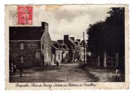 Cpa Boqueho (22)  Place Du Bourg Entree Du Chateau Du Pavillon( Animée  Publicite Murale ) - Cpa22 - 1948 - Autres Communes