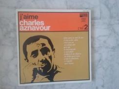 J'AIME CHARLES AZNAVOUR VOL 2 LP DE 1964. VARIANTES . NOUVELLES ORCHESTRATIONS.LANGUETTE.GILBERT BECAUD - Andere - Franstalig