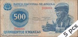 TWN - ANGOLA 116 - 500 Kwanzas 14.8.1979 Various Prefixes G/VG DEALERS LOT X 5 - Angola