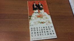 Old Tourist Brochure - Slovenia, Gostinsko Poslovno Združenje Ljubljana - Autres Collections