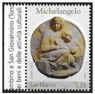 San Marino: Scultura Di Michelangelo, Sculpture By Michelangelo, Sculpture De Michel-Ange - Escultura