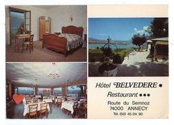 15284-LE-74-Hôtel BELVEDERE-Restaurant-ANNECY--------vues Multiples Diverses - Annecy