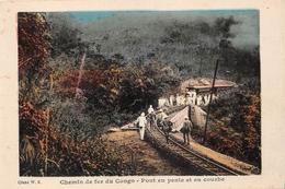 ¤¤   -   CONGO   -  Chemin De Fer Du Congo  -  Pont En Pente Et En Courbe   -  ¤¤ - Congo Belga - Altri