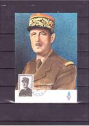 1695  Général De Gaulle 1890 1970 *CARTE MAXIMUM *60/40* - 1970-79