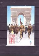 """1697  Général De Gaulle """"1890 1970"""" Sur Les Champs Elysées *CARTE MAXIMUM *60/40* - 1970-79"""