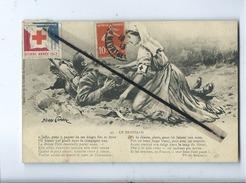 CPA - Le Brassard (Pierre Comba )  (Croix Rouge , Voir Timbre Poste ,et Cachet Au Verso) Militaire - Croix-Rouge