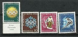 Suiza_1948_Juegos Olímpicos De Invierno. - Nuevos