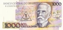BRESIL   1 Cruzado Novo On 1000 Cruzados  ND (1989).   Sign.26   P. 216b   UNC - Brasilien
