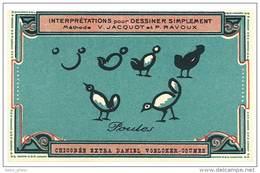 Chromo Chicorée Extra Voelcker-Coumes à Bayon ... Dessiner Simplement ...méthode Jacquot Et Ravoux ... Poules - Autres