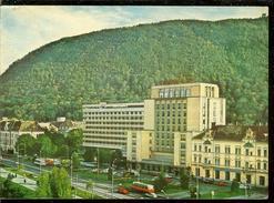 Romania, Postcard Stationery, Code 955-75, Brasov, Carpati Hotel, Used 1977 - Romania