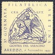 Erinnofili, Italia 1952, Arezzo 3° Giornata Filatelica Aretina 'Giostra Del Saracino' - Italia