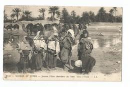 Scènes Et Types Jeunes Filles Cherchant De L'eau Dans L'Oued - Algérie