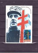"""1695   """"1890 1970"""" 5e Anniversaire Du Mémorial Au Général De Gaulle *CARTE MAXIMUM *60/45* - 1970-79"""