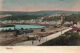CPA - SIERCK (57) - Aspect Du Dépôt De La Gare Et Du Bourg Le Long De La Moselle En 1909 - Other Municipalities