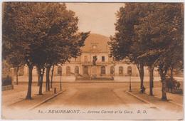 Vosges : REMIREMONT :  Avenue De La  Gare  ( Cachet Au Dos) - Remiremont