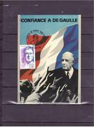 """2634   """"1890 1970"""" 100e Anniversaire De La Naissance Du Général De Gaulle *CARTE MAXIMUM *60/47* - 1970-79"""