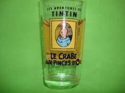 Verre Publicitaire AMORA TINTIN Le Crabe Aux Pinces D'or 1994 - Verres