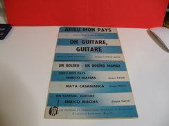Musique & Partitions > Enrico Macias, Adieu Mon Pays-Oh Guitare,guitare-Piano,accordéon,guitare,saxo,trompette & Autres - Musique & Instruments