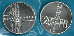 SVIZZERA 1992 - GERTRUD KURZ  - 20  Fs. / CHF - SPL / FDC - - Svizzera