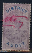 GB Revenue 1896 District Audit Barefoot 13  - A006 - Steuermarken
