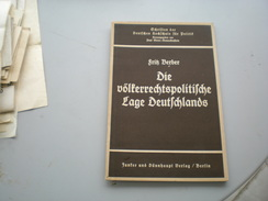 Dr Fritz Berber Die Volterrechtspolitische Lage Deutschlands 1936 24 Pages - Alte Bücher