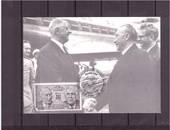 """2501  """"1890 1970"""" 100e Konrad Adenauer & Charles De Gaulle *CARTE MAXIMUM *60/52* - 1980-89"""