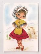 Carte Brodée LA CATALANE - Embroidered