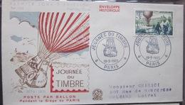 Enveloppe FDC 104 - 1955 - Journée Du Timbre - Ballon - France