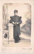 """¤¤   -   REIMS   -  Carte-Photo D'un Militaire  -  132 Sur Le Col  -  Photographe """" H. Houppé """" 64 Rue Du Barbat   -  ¤¤ - Reims"""