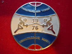 International Tournament - Leningrad Rapier-1976 USSR Pin - Fencing