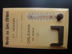 Plaque Métallique Avec Thermomètre à Mercure. - Plaques En Tôle (après 1960)