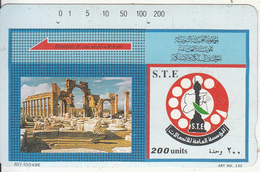 SYRIA(Tamura) - Trails Tdmr, Art No 132, S.T.E. Telecard 200 Units(HII-100496, Black Reverse-5), Used