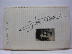 AUTOGRAPHES SUR PAPIER RECTO/VERSO - SYLVIANE TELLIEZ + FHILIPPE FILIPPI - Autographes