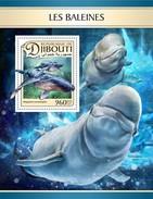 DJIBOUTI 2017 SHEET BALEINES WHALES BALEIAS WALEN BALENE MARINE LIFE Djb17114b - Djibouti (1977-...)