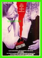AFFICHE DE FILM - FATAL ATTRACTION - MICHAEL DOUGLAS & GLENN CLOSE - ÉDITIONS AVANT GARDE - - Affiches Sur Carte