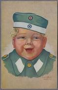 Kleines Kind In Uniform 1918y.  Carl Diehl 432p - Guerra 1914-18