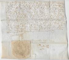 DIJON 1642: Parchemin En Latin, Chapelle St-Baptiste Et Ste -Marguerite En L'église Collégiale - Manuscrits
