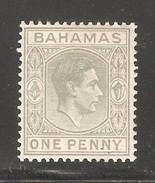 Bahamas 1941,KGVI,1p,Sc 101A,VF Mint Hinged* (F-8) - 1859-1963 Crown Colony