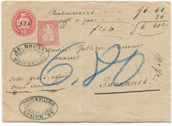 1639 -  Rare Firmenentwertung Auf 10er Tübli Mit 10 Rp. Sitzender Helvetia Von MOUTIER - Ganzsachen