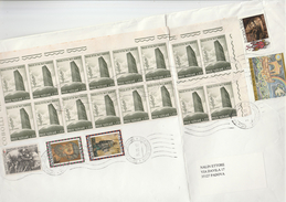 VATICAN COVER Franked  21 X STAMPS To Italy  Un United Nations Red Cross Art - Vatican