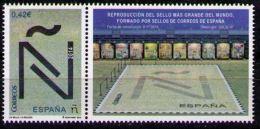 ESPAGNE SPANIEN SPAIN ESPAÑA 2015 UN SELLO, UN RÉCORD: Mosaico Sellos Más Grande Del Mundo 0.42 ED 4973 MI 4983 - 2011-... Nuevos & Fijasellos