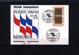 Deutschland / Germany 1981 Muenchen Rudern Weltmeisterschaften Sonderpostkarte - Rudersport