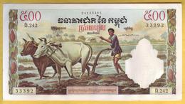 CAMBODGE - Billet De 500 Riels. 1958-70. Pick: 14d . SUP+/SPL - Cambodja