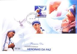 GUINEA BISSAU 10-03-2008 FIRST DAY COVER - MOTHER TERESA - NOBEL PEACE PRIZE WINNER 1979 - Guinea-Bissau