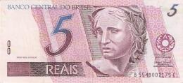 BRESIL   5 Reais   ND (1997-).   Sign.41  P. 244Ag   SUP - Brésil
