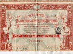 VP9732 - PARIS 1900  - Action - Société Française Des Distributions & De Constructions Electriques - Electricité & Gaz