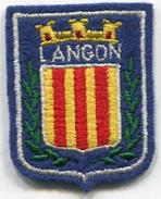 écusson En Tissus Brodées - LANGON - 33 Gironde - Blazoenen (textiel)