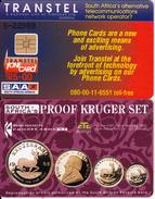 SOUTH AFRICA - Proof Kruger Set (tel.080-00), Transtel Trial Card R5, Tirage 2450, Mint