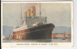 """CP Canadian Pacific """"Empress Of Canada"""" Wereld Tentoonstelling Van Antwerpen 1930 - Canada"""